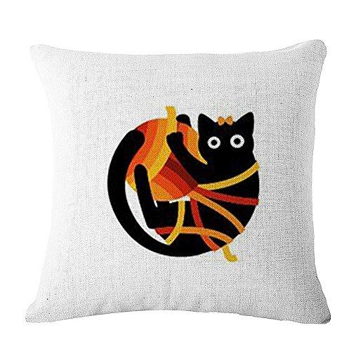 JES&MEDIS Decorative Square Throw Pillow Case Cushion Cover Cat - Cat Geometric