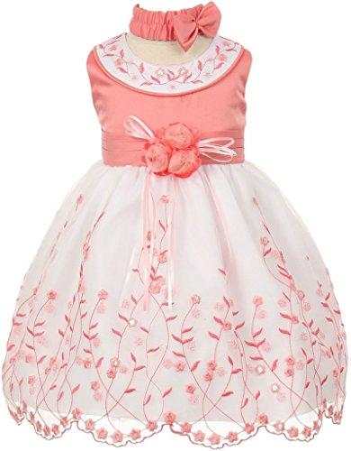 lavender and peach dress - 1