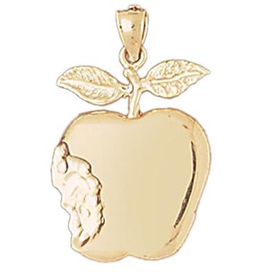 Amazon 14k yellow gold apple pendant 26 mm jewelry 14k yellow gold apple pendant 26 mm aloadofball Gallery