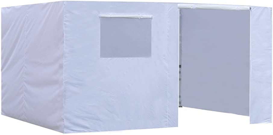Amazon Com Eurmax Zippered Walls For 10 X 15 Canopy Tent Enclosure Sidewall Kit With Roller Up Mesh Window And Door 4 Walls Only White Garden Outdoor