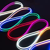 WYZworks Multi RGB Flexible Water Resistant Soft Double Side LED Neon Rope Light Strip Bar 150FT