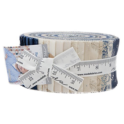 Christopher Wilson-Tate Regency Blues Jelly Roll 40 2.5-inch Strips Moda Fabrics 42300JR by MODA