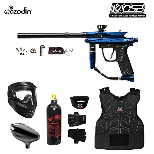 MAddog Azodin KAOS 2 Beginner Protective CO2 Paintball Gun Package - Blue/Black
