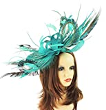 Hats By Cressida Stunning Large Paparazzi Peacock Feathers Ascot Derby Fascinator Hat - With Headband