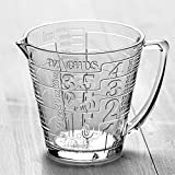 mixing pitcher glass - Quart-Size Glass Measuring Pitcher for Mixing and Serving