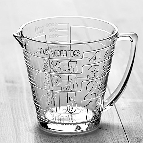Quart-Size Glass Measuring Pitcher for Mixing and Serving