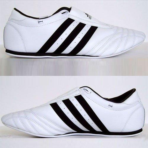 ADIDAS SM II SHOES - white w/black stripes - 10.5