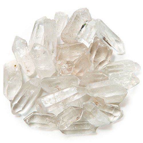 Hypnotic Gems Materials: 3 lb Bulk Rough Small Crystal Points Stones - 0.75 to 1.5 inch avg - Raw Natural Crystals and Rocks for Cabbing, Lapidary, Tumbling, Polishing, Wire Wrapping, Wicca and Reiki