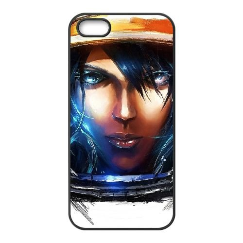 Starcraft Ii 6 coque iPhone 4 4s cellulaire cas coque de téléphone cas téléphone cellulaire noir couvercle EEECBCAAN00952