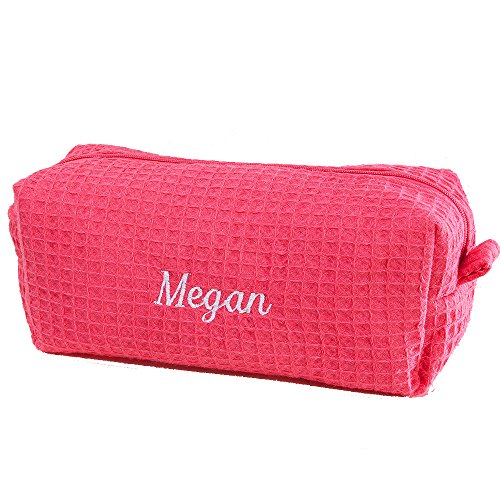 Personalization Mall Embroidered Pink Make-up Bag