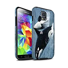 STUFF4 Matte Tough Shock Proof Phone Case for Samsung Galaxy S5/SV / Orca/Killer Whale Design / Marine Wildlife Collection