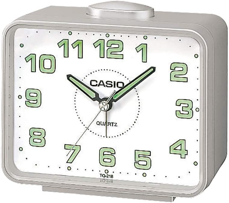 Casio TQ-218-8EF - Reloj despertador analógico de cuarzo, Alarma con repetición