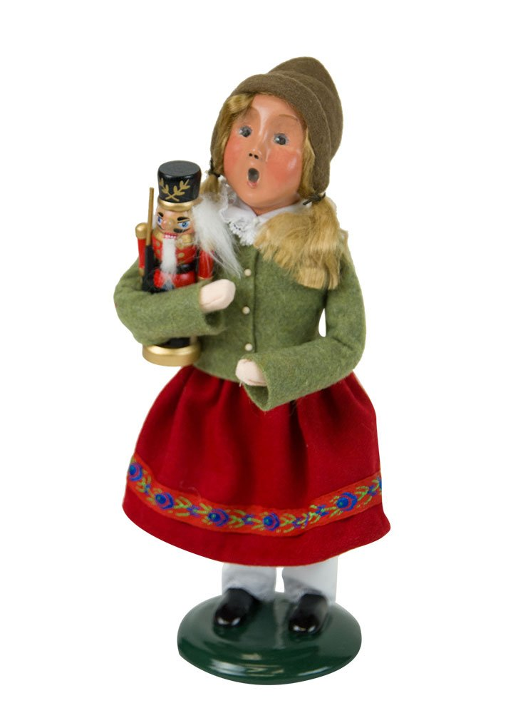 Byers' Choice Nutcracker Girl Caroler Figurine #4843D from the Christmas Market Collection (NEW 2018)