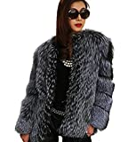 Product review for Yr.Lover Women's Genuine Silver Fox Fur Winter Warm Long Sleeve Coat