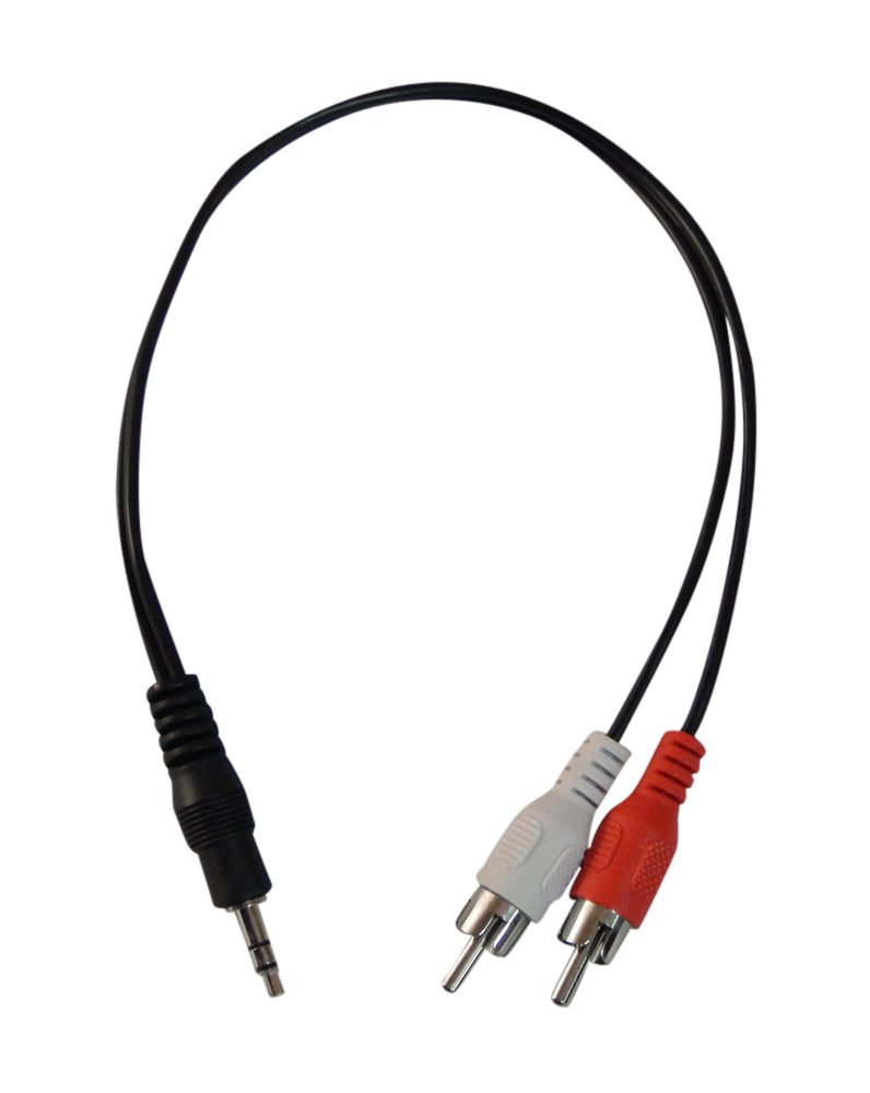 Amazon.com: YCS Basics1 foot RCA 2 male to 3.5mm male cable: Home Audio & Theater