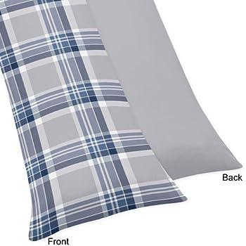 Amazon Com Sweet Jojo Designs Navy Blue And Gray Plaid