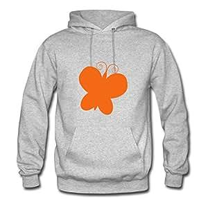 Women Sweatshirts Butterfly Printed For Regular Hoodies-grey X-large