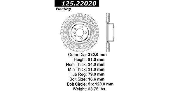 StopTech 125.22020 Premium Brake Rotor