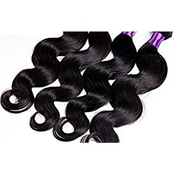 Wighairbeauty Rosa Hair Products Pervian Virgin Hair Body Wave Peruvian Virgin Hair Body Wave 7a Unprocessed Human Hair Weave 1ps 50g Bundle Total 50g (8 Inch)