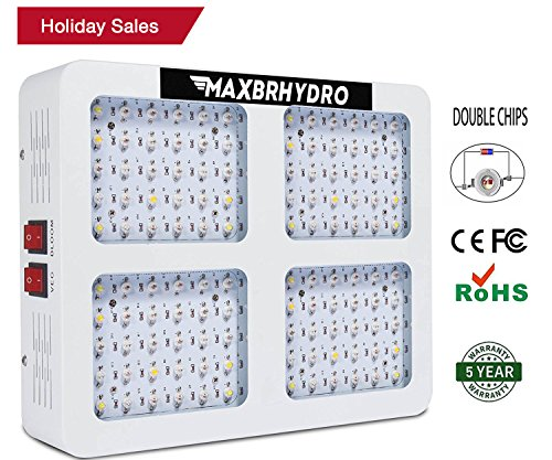 1200W LED Grow Lights 12-band Full Spectrum Plant Growing Light with UV/IR for Veg and Flower (Holiday Sales) by MAXBRHYDRO