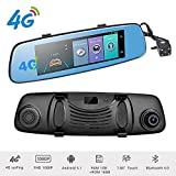 Podofo 4G Dash Cam Backup Camera 7.84'' Android 5.1 Touch Screen ADAS Remote Car DVR Rear View Mirror Monitor 1080P Dual Lens Wifi Dashcam GPS Navigation Vehicle Video Recorder