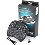 Mini Teclado Mouse Touchpad Wireless Wifi I8 Tv Box Usb Pc Ps3 Xbox Preto