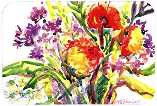 Caroline's Treasures 6042CMT'Flower' Kitchen or Bath Mat, 20' by 30', Multicolor