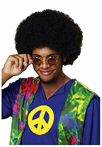 50767/212 (Black) Promotional Black Afro Clown Wig (70's Wig Costume)