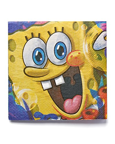 American Greetings 645416369787 SpongeBob SquarePants Lunch Napkins, Party Supplies Novelty (16-Count) by Nickelodeon