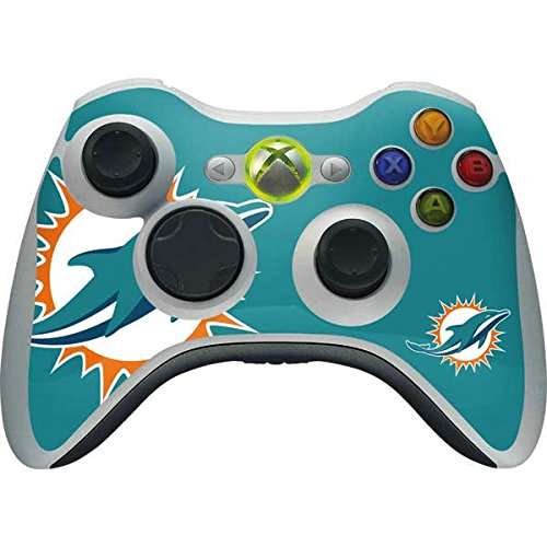 Skinit NFL Miami Dolphins Xbox 360 Wireless Controller Skin - Miami Dolphins Large Logo Design - Ultra Thin, Lightweight Vinyl Decal ()