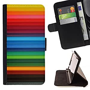 Momo Phone Case / Flip Funda de Cuero Case Cover - Fondo de las rayas del arco iris gay Red - Samsung Galaxy Note 5 5th N9200