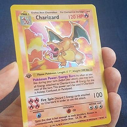 Amazon.com: Tarjeta de Pokemon personalizada de Charizard de ...