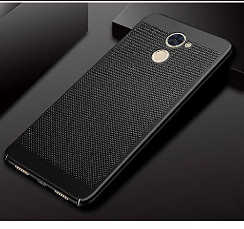 Funda Huawei Enjoy 7 Plus,Alta Calidad Ultra Slim Anti-Rasguño y Resistente Huellas Dactilares Totalmente Protectora Caso de Plástico Duro Case,Cuadrícula Disipación de calor Antideslizante Cover A