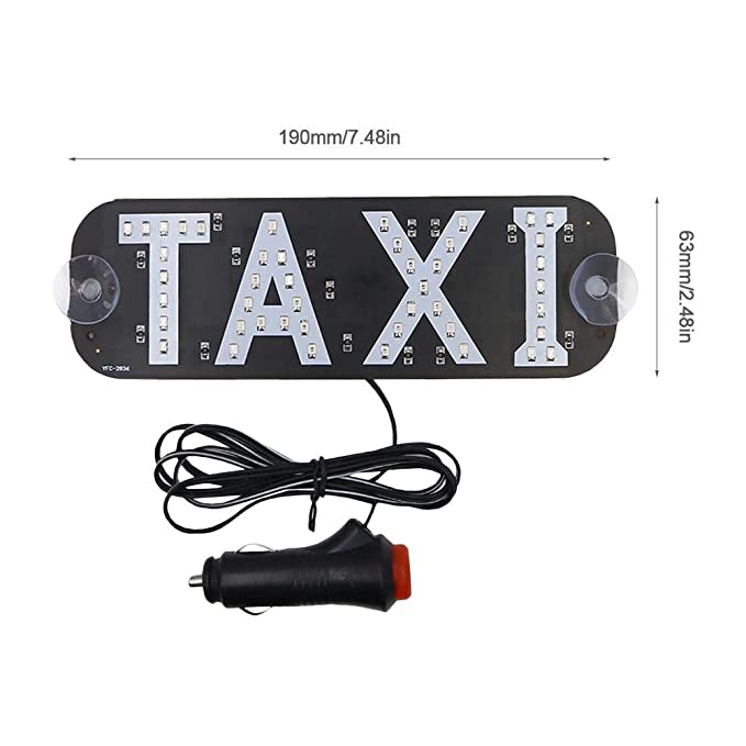 Katurn Taxi LED Sign Decor - Placa de Vidrio LED indicador ...