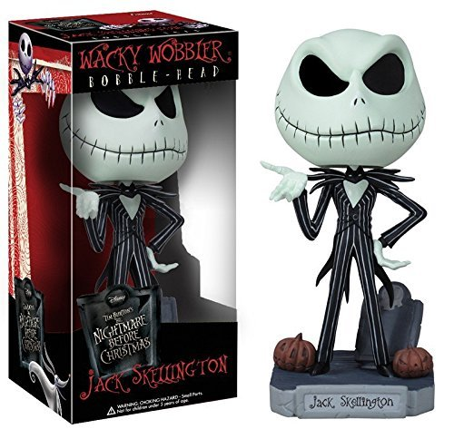 [FUNKO The Nightmare Before Christmas Jack Wacky Wobbler Bobble Head PVC Action Figure Collection Toy Doll] (Cheap Indiana Jones Costumes)