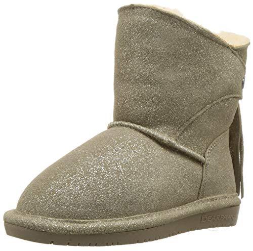 522f67241568f BEARPAW Girls  MIA Toddler Fashion Boot Pewter dist 7 M US Little Kid