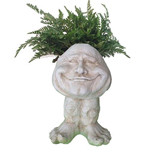 homestyles-muggly-37005-papa-john-antique-white-18-face-planter-garden-statue-holds-6-pot