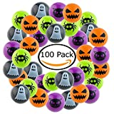 100 Piece Halloween Bouncing Balls Set For Halloween Parties, Bag Fillers and Treat Bags, Unique Halloween Party Favours