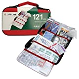 Lifeline 121 Piece First Aid Emergency Kit - Small and Compact Size - Ideal for camping, sporting events, hiking, cycling, car as well as home, school and office