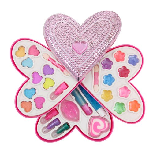 Petite Girls Heart Shaped Cosmetics Play Set - Fashion Makeu