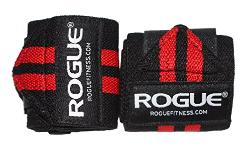"Rogue Fitness Wrist Wraps | Available in Multiple Colors (Black/Red, 12"")"