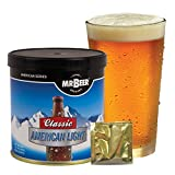 two gallon beer kit - Mr. Beer Classic American Light 2 Gallon Homebrewing Craft Beer Making Refill Kit with Sanitizer, Yeast and All Grain Brewing Extract Comprised of the Highest Quality Barley and Hops