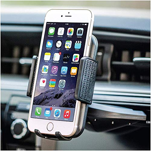 Bestrix Universal CD Phone Mount Cell Phone Holder for Car fits iPhone X, 8, 7, 6, 6S Plus. 5S, 5C, 5, Samsung Galaxy S5, S6, S7, S8, Edge/Plus Note 4,5,8, LG G4, G5, G6, All Smartphones up to 6