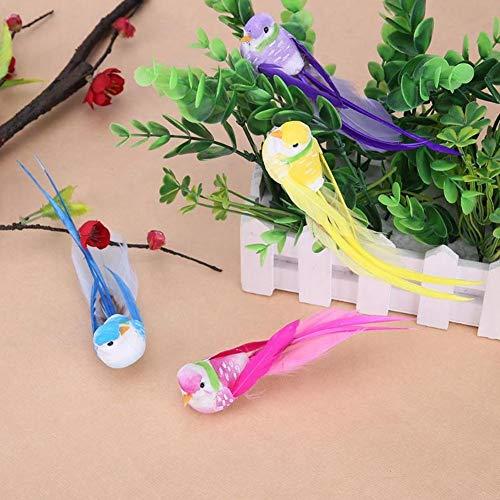 Artificial Ornaments (lwingflyer 4pcs Artificial Simulation Foam Birds with Metal Clip Feather Bird Ornaments DIY Craft for Wedding Decoration Home Garden Party Accessories 12cm/4.72inch (Metal Clip))
