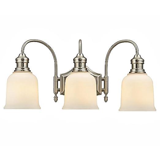 Home Decorators Collection 3 Light Satin Nickel Vanity Light