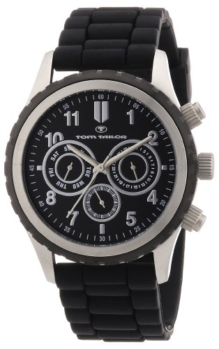 TOM TAILOR Herren-Armbanduhr XL Chronograph Quarz Silikon 5410201