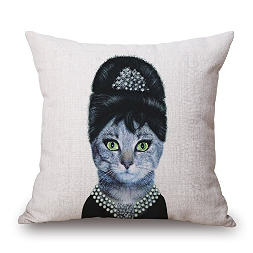 Artistdecor Cat Throw Pillow Case ,best For Bedroom,dining Room,kitchen,floor,wedding,bar 20 X 20 Inches / 50 By 50 Cm(each (Plum Blossom Princess Costume)