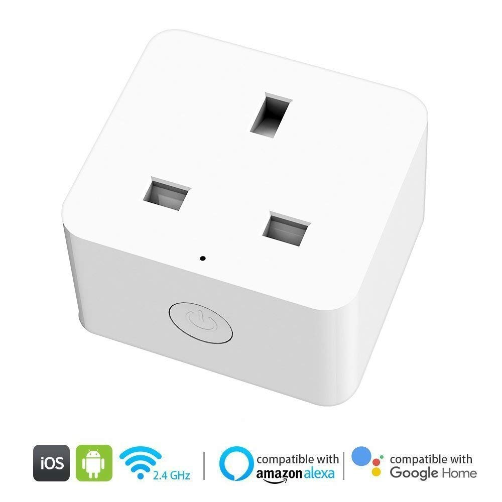 Lumar Smart WiFi Plug, Mini Wireless Outlet Smart Socket, Timing Function Control /Remote Control Your Devices from Anywhere, Compatible with Alexa,Echo, Google Home and IFTTT