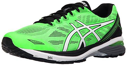 ASICS Men's Gt-1000 5 Running Shoe, Green Gecko/White/Black, 11 M US