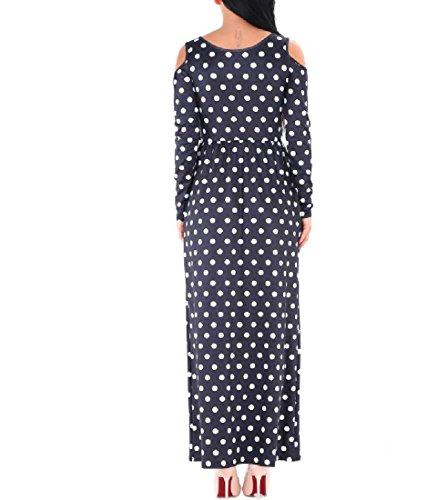 Hollow Women Print Luxury Dot Club Comfy Polka Color Waist Pattern1 Pure Dresses Uqnndw07
